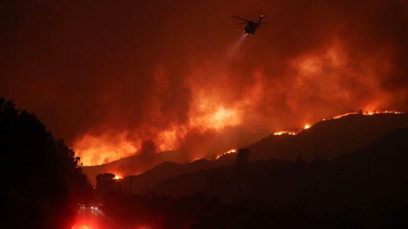 洛杉矶国家森林公园野火 快速延烧强撤500户民宅