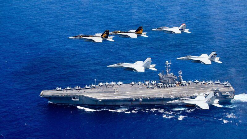 里根号航母折返南海 美军机夜巡台海6小时