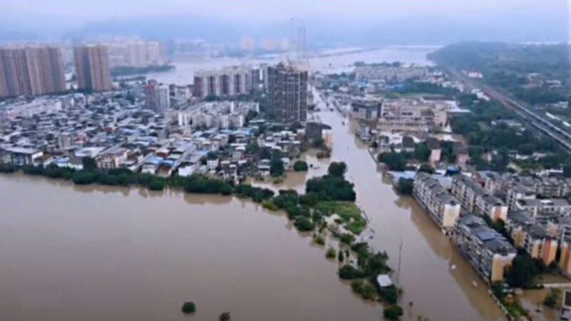四川洪災泛濫 長江5號洪水流量將創紀錄(視頻)