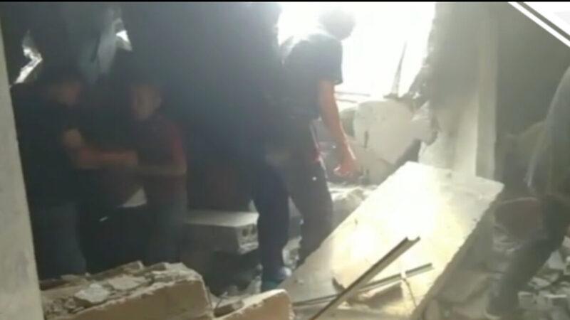 山西省一飯店坍塌 至少5死1傷37人受困