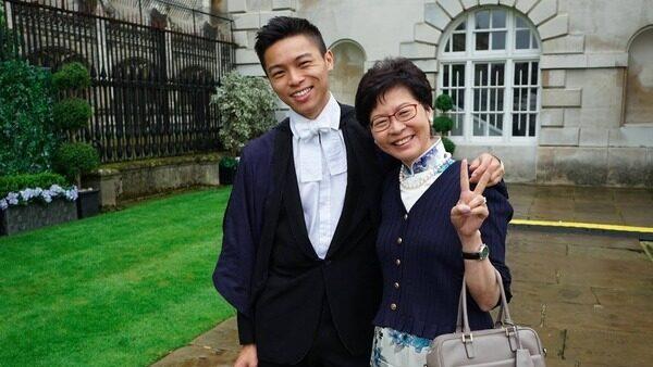 林鄭次子上月在美國突然失蹤 被曝已返回香港一帶