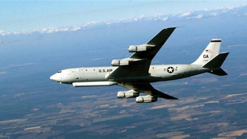 """美军震慑加码!E-8C侦察机""""夜探""""广东"""