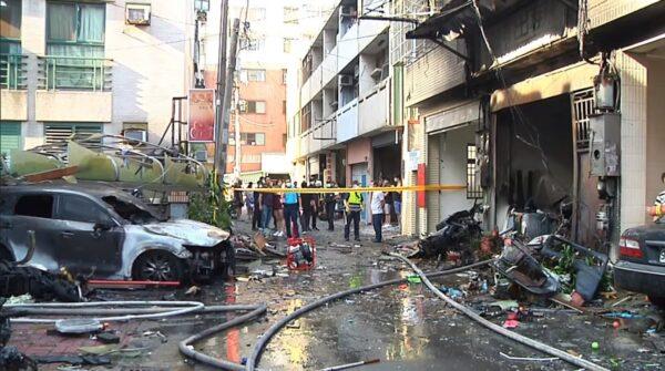 台中东海商圈气爆疑人为 火球冲对街酿4死1伤