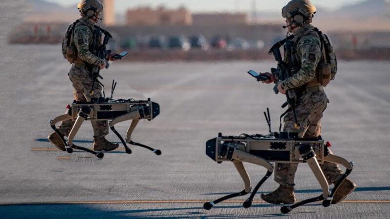 美空军最大规模高科技演习 机器狗首登场