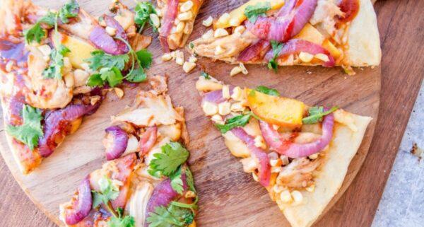 燒烤雞肉披薩(組圖)