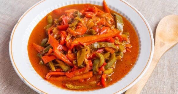 青椒煮西紅柿(組圖)