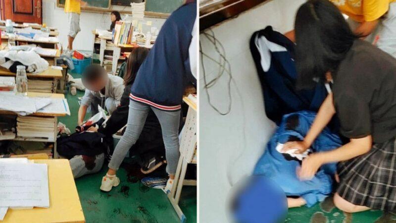 校園血案 湖北少年帶刀上課 捅死二女生