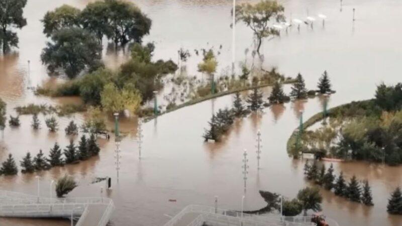 松花江1號洪水形成 黑龍江數十河流超警戒(視頻)