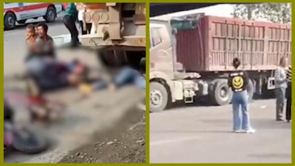 河南货车与幼儿园校巴相撞 致4死9伤