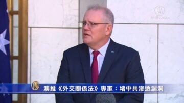 澳洲推《外交关系法》 专家:堵中共渗透漏洞