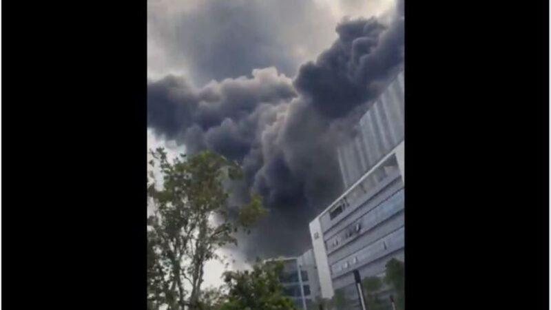 華為研發基地起火傳實驗室爆炸 官方緊急「闢謠」(視頻)