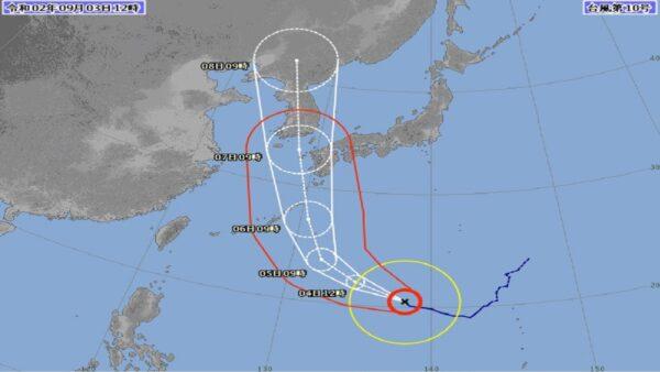 海神挑戰今年最強颱風 預計直逼日本貫穿朝鮮半島