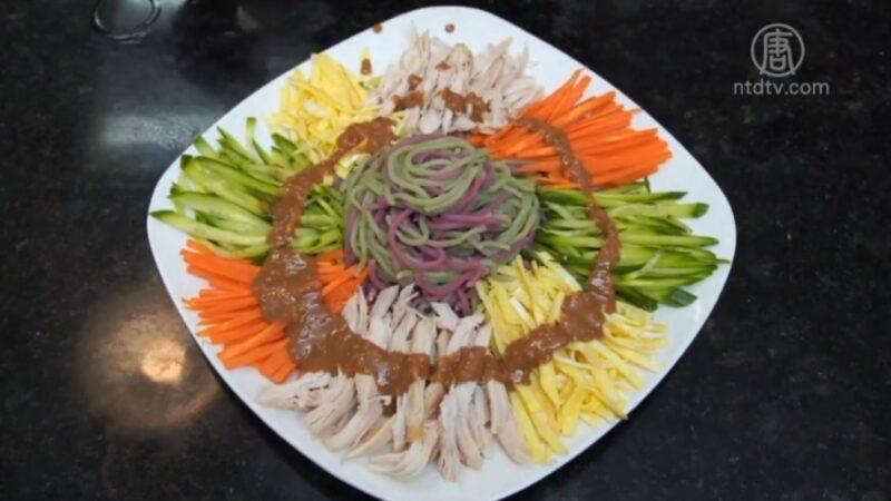 【玉玟厨房】电动面条机制作彩色蔬菜面