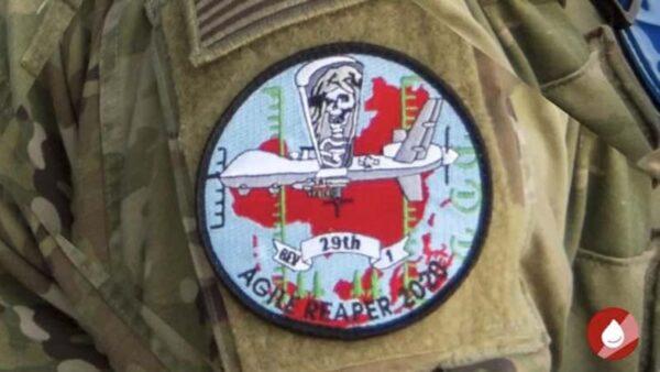 美空军演习徽章图案曝光:死神俯视红色中国