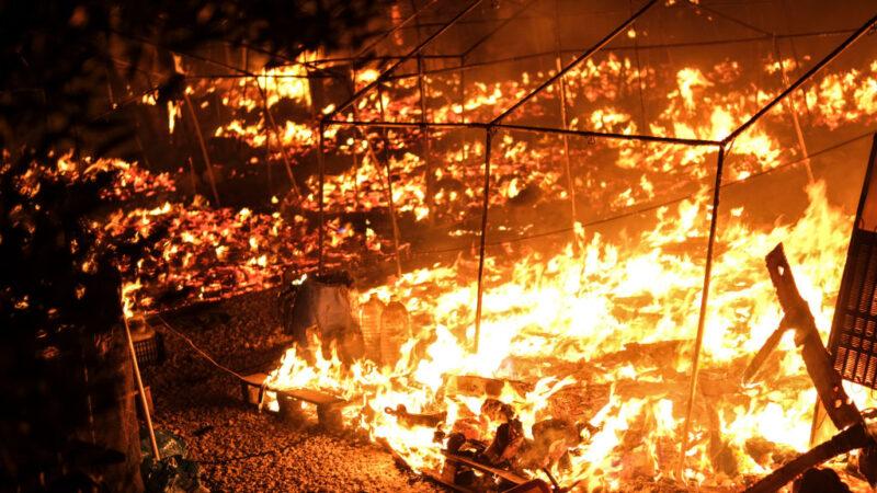 希臘最大難民營一天兩起大火 數千人流離失所