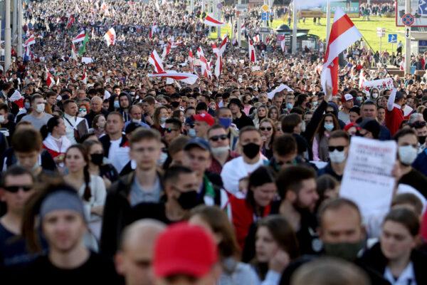 白俄羅斯大規模示威再現 要求獨裁總統下台