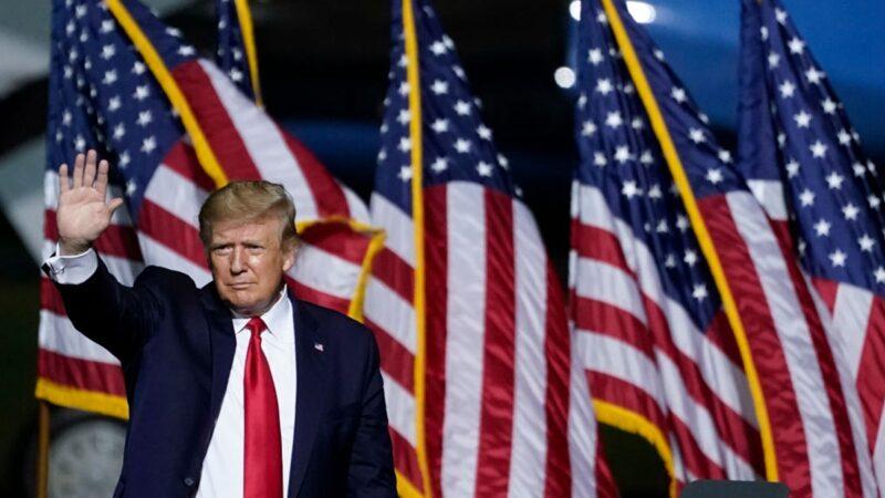 组图:美国大选 川普在弗吉尼亚州举行集会
