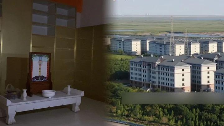 """天津惊现""""骨灰小区"""" 16栋楼存放10万骨灰盒"""