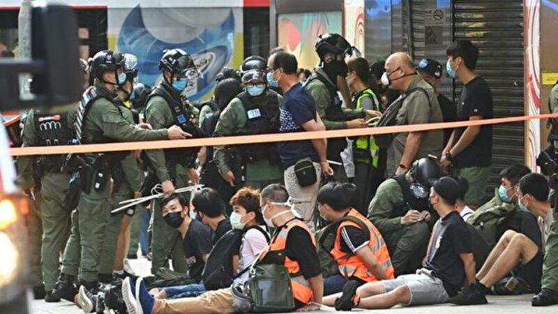 9.6游行近300港人被捕 晚间3人坠亡