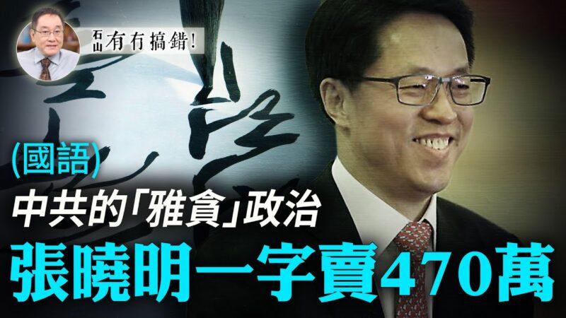 """【有冇搞错】中共的""""雅贪""""政治 张晓明一字卖470万"""