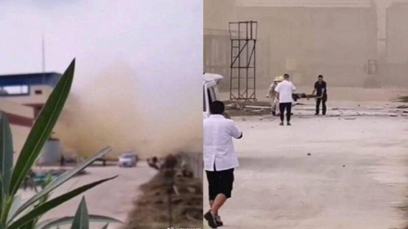湖北化工厂大爆炸 至少5死1伤