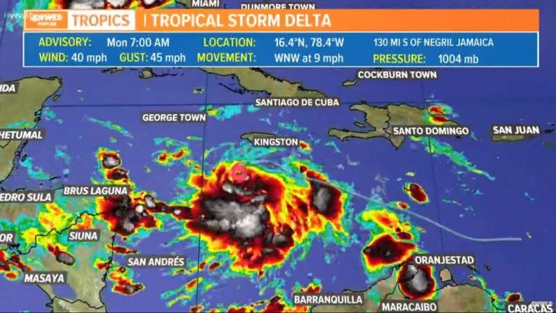 戴爾塔升級為颶風 未有阻力朝墨西哥灣逼近