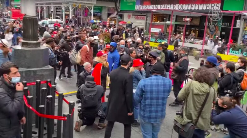 【新唐人晚间新闻】纽约车游挺川 支持者被打流血