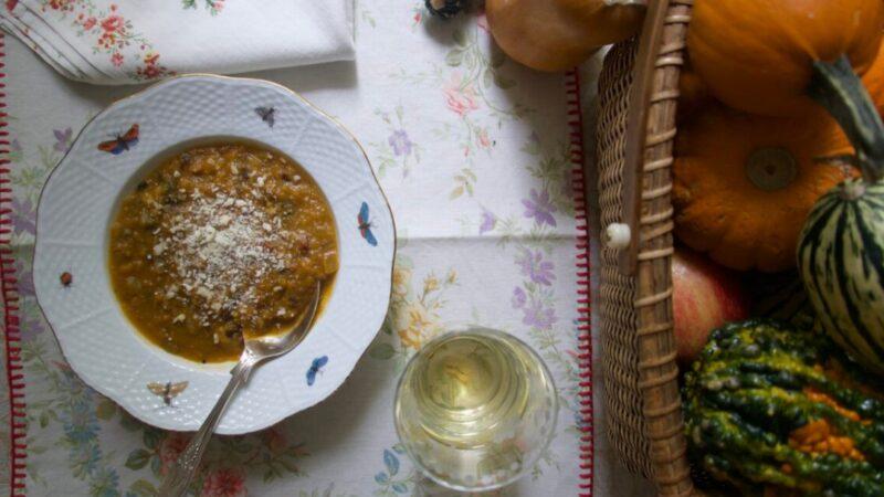 南瓜、培根和栗子汤 完美晚餐的第一道菜(组图)