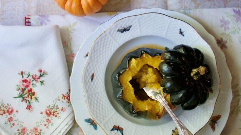 枫糖浆烤橡子南瓜(组图)