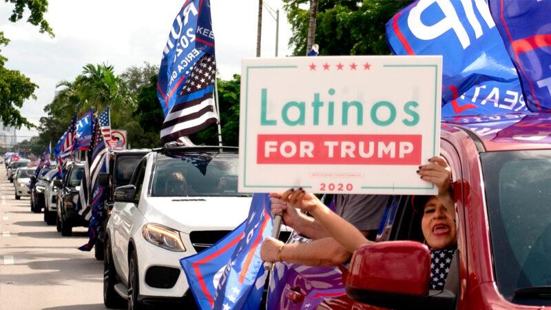 """上万拉美裔游行挺川普 """"反共车队""""横穿迈阿密"""