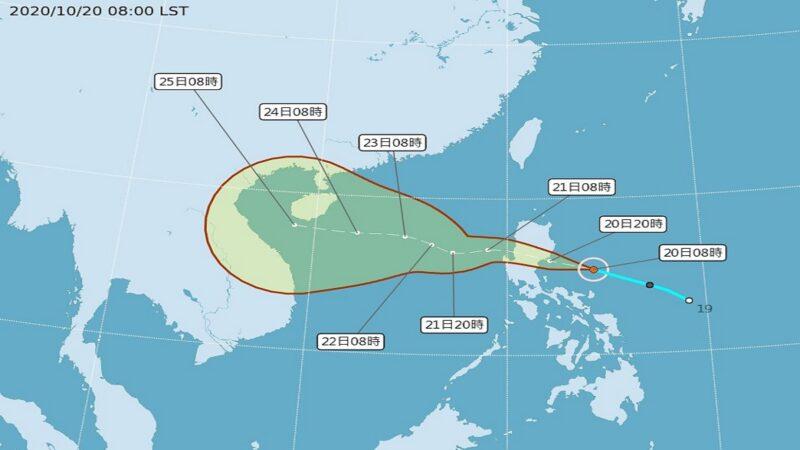 颱風沙德爾形成 往海南島或中南半島移動