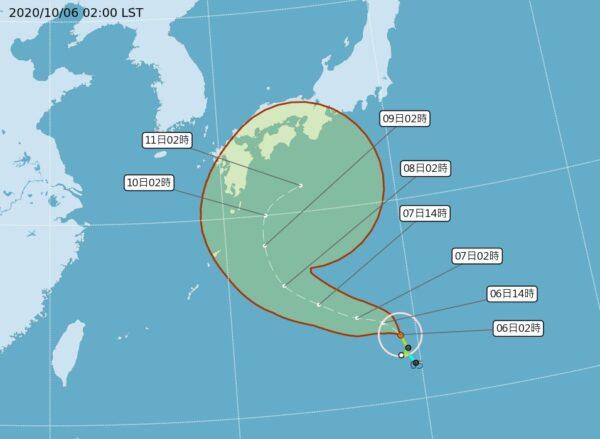 颱風昌鴻路徑分歧 北轉接近日本機率高