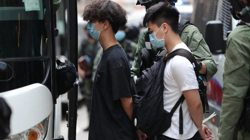 香港十一抗爭 至少86人被捕 包括4名區議員(組圖)