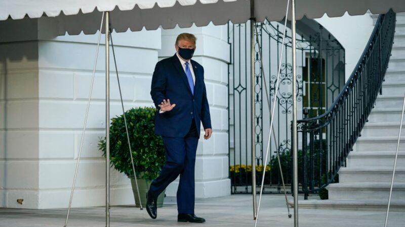 川普离开白宫 乘机前往医院治疗(视频)