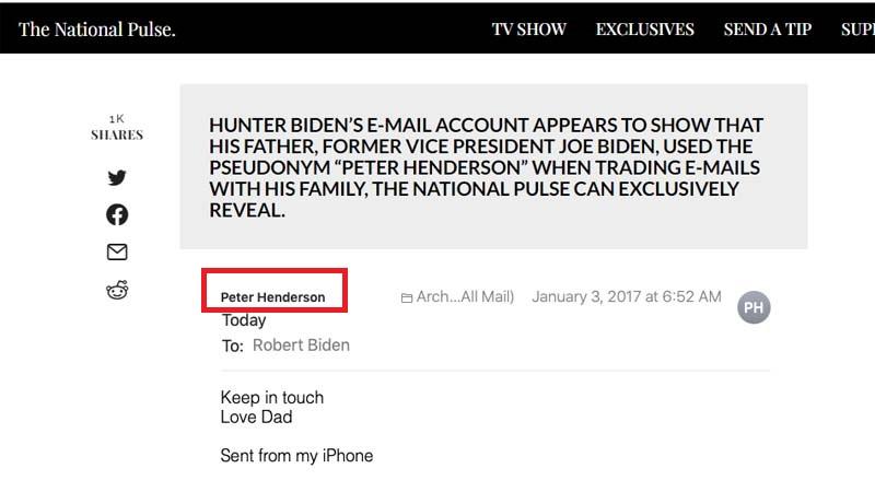 亨特郵件再爆:拜登用克格勃間諜名字當化名