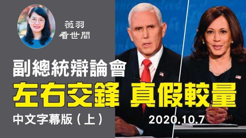 【中文字幕 上】副總統辯論會,候選人作風迥異,別具看點