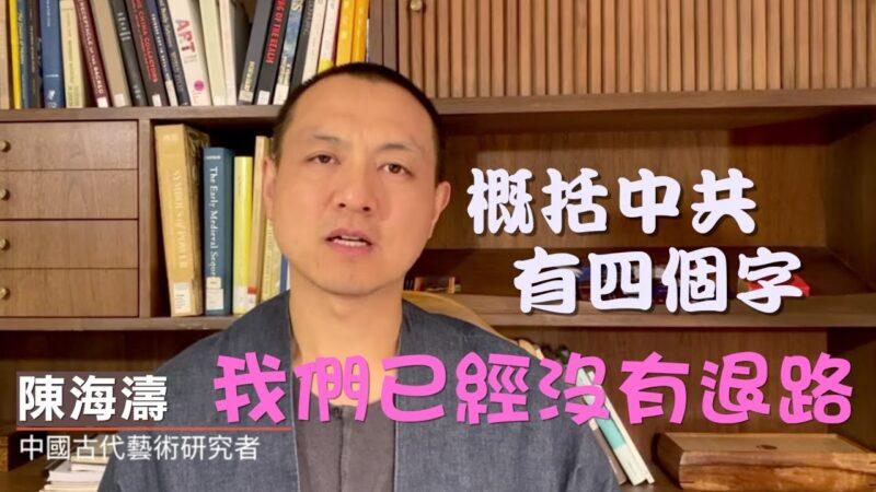 【訪談】古藝術研究員陳海濤 從⼈文⻆度抨中共