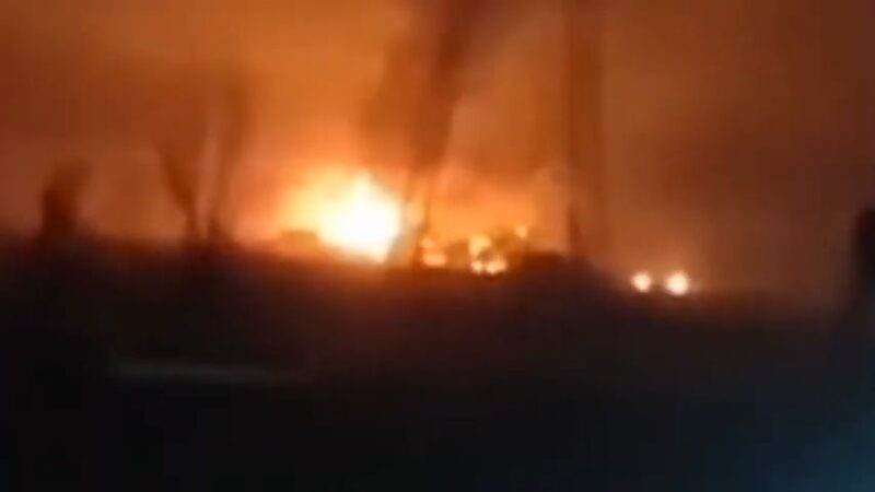 河北珍珠棉工廠爆炸至少7死1傷 火光染紅天際