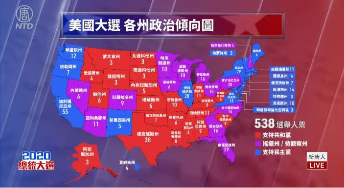 【美國大選 直播片段八】全美各地開票 選情激烈 搖擺州成為決勝關鍵