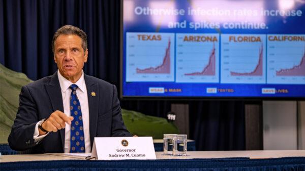 紐約州中共病毒疫情慘重 州長反獲國際艾美獎