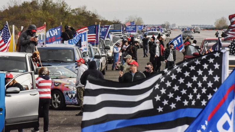 挺川车队从加州驶向华府 周末举行百万人大游行