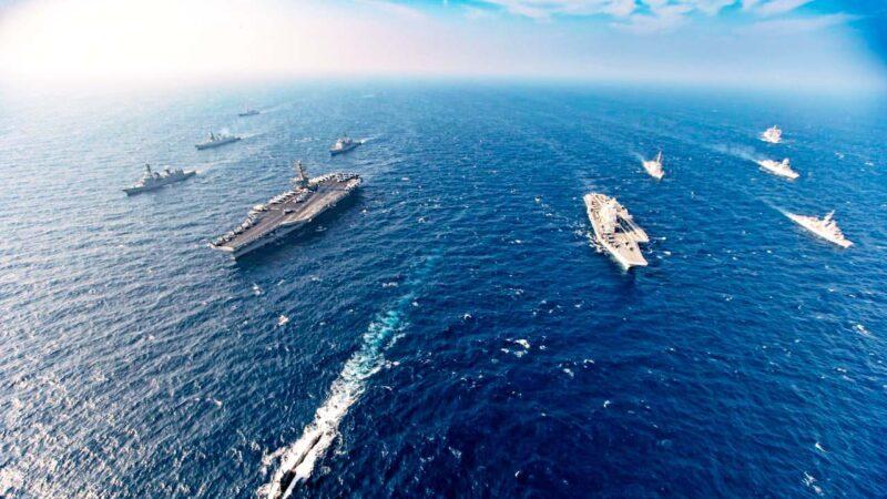 美印日澳聯合軍演 雙航母出動震懾中共