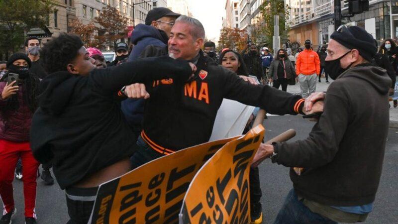 華盛頓大遊行 極左暴徒襲擊川普支持者 (視頻)
