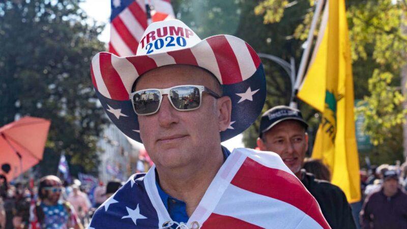 組圖:美國民眾11.21集會 抗議大選舞弊