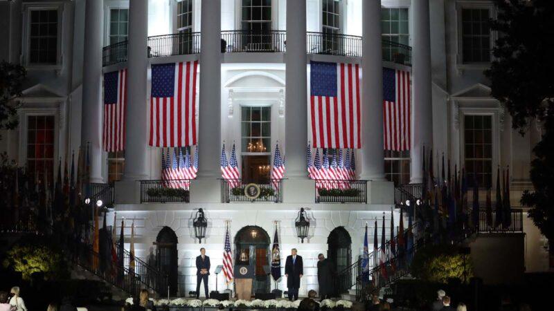 大选夜观开票庆胜选 川普选择留在白宫
