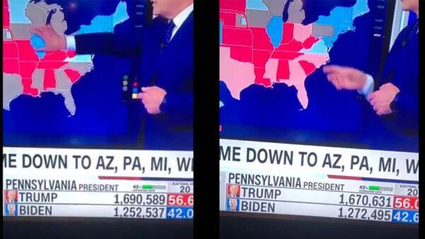 美两州选票数均现诡异变动 疑川普3万票秒变拜登