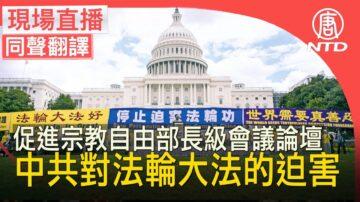【重播】促進宗教自由部長級會議論壇: 中共對法輪大法的迫害
