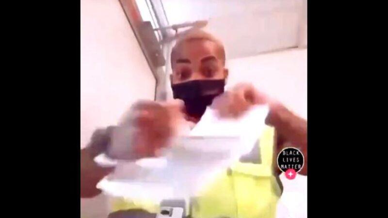 马克思主义者直播撕川普选票 被曝光忙求饶(视频)