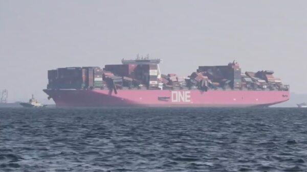 日本貨船從中國航向美國 1816個貨櫃落太平洋
