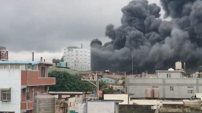 桃园制药厂爆炸 浓烟直窜天际已知2人重伤